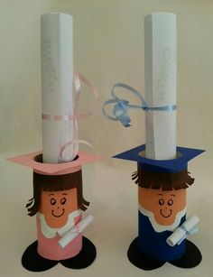 Graduation crafts for kids Graduation Crafts, Kindergarten Graduation, Graduation Decorations, Kids Crafts, Preschool Crafts, Diy And Crafts, Toilet Paper Roll Crafts, Paper Crafts, Diy For Kids