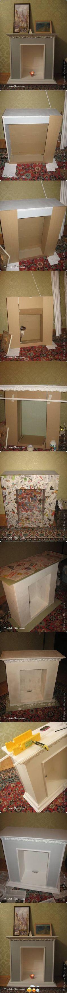 paper mache' fireplace nebens schlafzimmer für oma