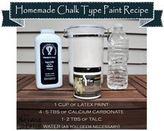 Homemade Chalk Paint Recipe | DIY chalk paint recipe | How to make chalk paint with talc and calcium carbonate | TheNavagePatch.com