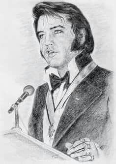 Drawing of Elvis Presley