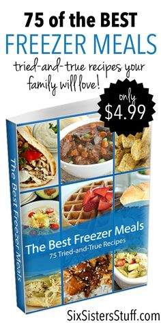 75 of the Best Freezer Meals cookbook from SixSistersStuff.com - only $4.99!