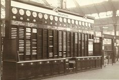 Photo:Arrivals and departures board at Brighton Station