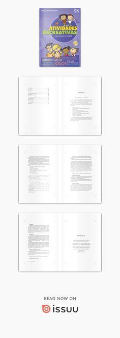 Para emocionar, para divertir, para promover entrosamento e para alegrar os encontros dos pequenos grupos com dinâmicas, quebra-gelos, jogos, brincadeiras e testes. Atividades que descontraem o ambiente e dinamizam os encontros. Autor: Priscila Laranjeira. Formato: 14x21. Preço: R$17,00. Número de páginas: 96. ISBN: 85-7459-190-2