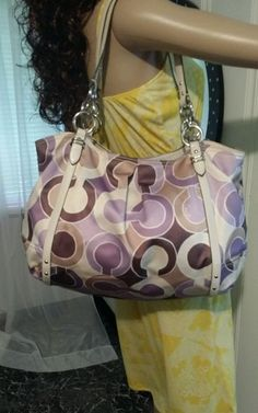 Coach  Outline OP Art Print Alexandra Tote 16230 #Coach #TotesShoppers
