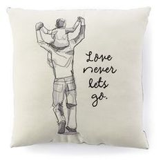 Love Never Lets Go Pillow Ken Sheldon