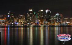 Photos of San Diego skyline at night, View the wonderful looks of San Diego.