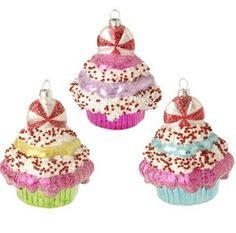 Raz Imports Cupcake Ornaments - set of 3 - SP Marketplace