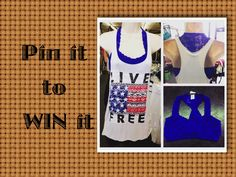 """Pin it to WIN it!! Win this tank and bralette by repinning our pin, following us on Pinterest and ALSO commenting """"PINNED"""" on this pin."""