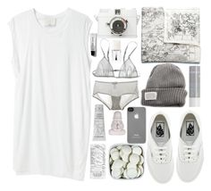 """""""Early bird"""" by sofiyar ❤ liked on Polyvore featuring 3.1 Phillip Lim, Acne Studios, Cosabella, Vans, Korres, Loup Charmant, Christian Dior, V AVE SHOE REPAIR, Incase and Lancôme"""