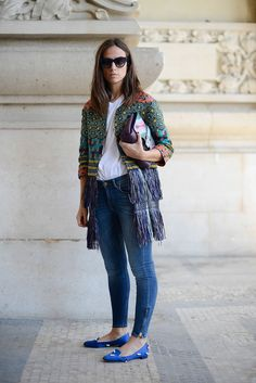 This is how you do denim in Paris.