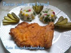 Párizsi szelet rizi-bizivel (Gluténmentesen is) Meat, Chicken, Food, Essen, Meals, Yemek, Eten, Cubs