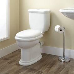 Kennard Dual-Flush European REAR OUTLET Toilet - Two-Piece - Elongated - White