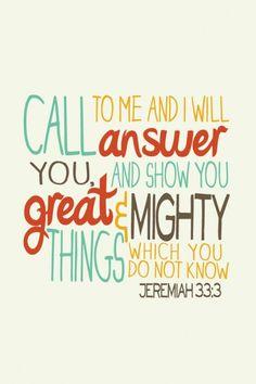jeremiah33:3