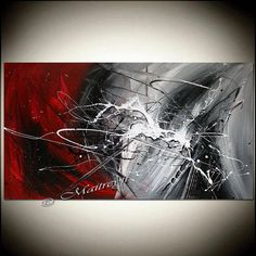 RED White Painting Original Artwork ABSTRACT art Modern Artwork Original Minimalist Textured canvas large artwork More paintings available here: Large Artwork, Modern Artwork, Original Artwork, Original Paintings, Grand Art, Picasso Paintings, Art Paintings, Contemporary Abstract Art, Art Abstrait