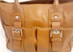 Audrey Brooke Brown Leather Tote  Purse Handbag #AudreyBrooke #TotesShoppers. $29.99