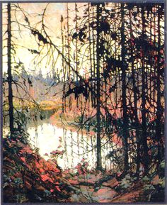 View Northern river by Tom Thomson on artnet. Browse upcoming and past auction lots by Tom Thomson. Group Of Seven Art, Group Of Seven Paintings, Canadian Painters, Canadian Artists, Landscape Art, Landscape Paintings, Tom Thomson Paintings, Art Gallery, Wow Art