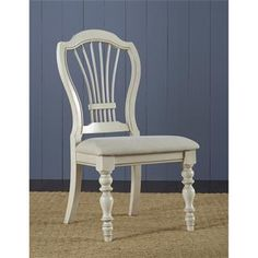 Hillsdale Furniture 5265-801 Pine Island Wheat Back Side Chair in Old White - Set of 2