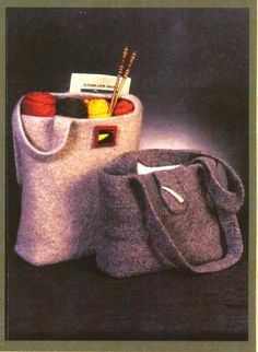Felted Tote Bag Pattern