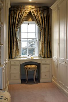 Dressing Room with Vanity - Modern Dressing Room Closet, Dressing Area, Dressing Rooms, Dressing Table, Closet Vanity, Vanity Set, Sweet Home, New Homes, Interior Design