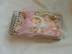 """baby girl vellum envelope album made with """"little darlings"""" paper"""
