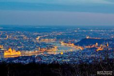 Panorama from evening Budapest