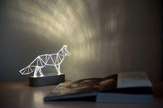 Modern concrete fox lamp, Geometric LED lamp ,concrete table lamp, animal night light, desert themed decorative lamp by SturlesiDesign on Etsy https://www.etsy.com/listing/233504418/modern-concrete-fox-lamp-geometric-led