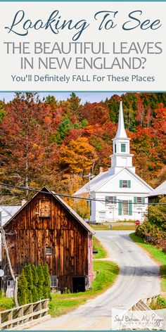 Looking to see the beautiful leaves in New England? You will definitely fall for these places - Destination vacances été 2019 New England Fall, New England Travel, New England Homes, New England Style, Beach Trip, Beach Travel, Beach Vacations, Beach Resorts, Dream Vacations