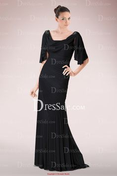 Elaborated Chiffon Sheath Mother of Bride Dress Featuring Asymmetrical Pleats and Ruffles