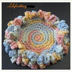 PATTERN  in PDF  Easy Crochet Coster washcloth cup by LilyKnitting, $3.99