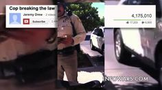 12 Year Old Boy Puts Cop in His Place - 12-year-old Jeremy Drew, a Las Vegas resident, calling out a cop for parking on the sidewalk.