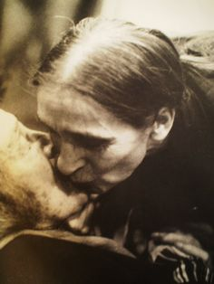 Pina Bausch was kissing Kazuo Ohno after her show in Tokyo Japan/2003