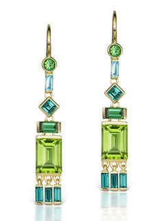 Peridot for Pantone's 2017 Color of the Year on Gem Obsessed: Tassel Earrings by Jane Taylor