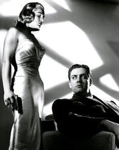 "lillithblackwell: ""Lizabeth Scott and Raymond Burr in Pitfall c.1948 """