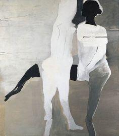 monochromat XXI by Teresa Pagowska. Medium: Oil on canvas; John Cage, People Figures, Art Auction, Figure Drawing, Figurative Art, Art World, Face And Body, Collage Art, Home Art