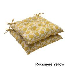 Pillow Perfect 'Rossmere' Outdoor Tufted Seat Cushions (Set of 2) (Rossmere