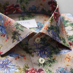 Eton Mens Slim-Fit Floral-Print Dress Shirt - Men's style, accessories, mens fashion trends 2020 Floral Print Shirt, Floral Prints, Gents Shirts, Tee Shirts, Mens Sweat Suits, Camisa Slim, Formal Shirts For Men, Casual Shirts, Designer Suits For Men