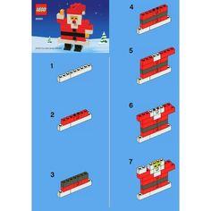 LEGO Santa Claus Set 40001 Instructions