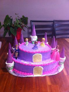 Sophia the first castle birthday cake