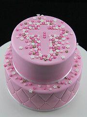 Bildergebnis für Pretty Birthday Cakes For Women - Kommunion - Celebration Funny Birthday Cakes, Elegant Birthday Cakes, Pretty Birthday Cakes, Birthday Cakes For Women, Birthday Cake Girls, Free Birthday, Birthday Bash, Pink Christening Cake, Baptism Cakes