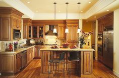 Kitchen lights made new. Here are a few great options for replacing those old kitchen lights with modern recessed lighting.