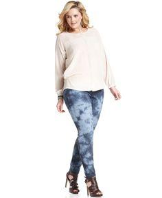 DKNY Jeans Plus Size Jeans, Indigo Tie-Dye Skinny - Plus Size Jeans - Plus Sizes - Macys