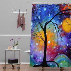 DENY Designs Madart Inc Winter Sparkle Shower Curtain & Reviews   Wayfair.ca