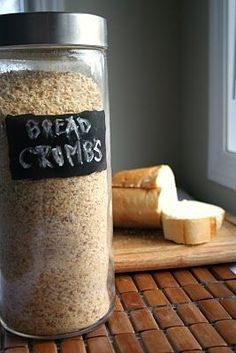 Something from nothing: bread crumbs (did you know store-bought bread crumbs have high fructose corn syrup? Yeah. They do.)