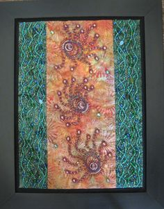 May 2015 Artist Marcia Stein  Beaded Fabric Wall Hanging