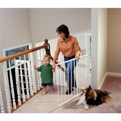 Kidco Safeway Gate, White, Top Of Stairs Gate