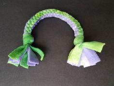 DIY--Fleece Square Knot Dog Tug Toy: Finished