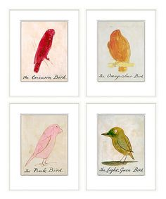 Colorful Birds Framed Prints - Set of 4 - Whimsy takes wing in the Colorful Birds Framed Prints - Set of 4. Placed within a nature-inspired great room, an eclectic mud room, or a warm and welcoming sun room, the prints engage the imagination with delightful colors and simple illustrations that capture the individual charm of each feathered friend. The white frame provides a simple, classic surround. Motivational Wall Art, Inspirational Wall Art, Colorful Wall Art, Colorful Birds, Bliss Home And Design, Simple Illustration, House Colors, Gallery Wall, Framed Prints