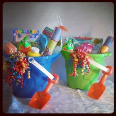 Fun baskets for the kids for the summer!