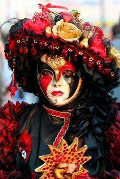 Venetian Mask. #masks #venetianmasks #masquerade http://www.pinterest.com/TheHitman14/artwork-venetian-masks-%2B/