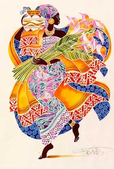 """Jaha"" by Keith Mallett....Jaha is a Swahili word that means prosperity."